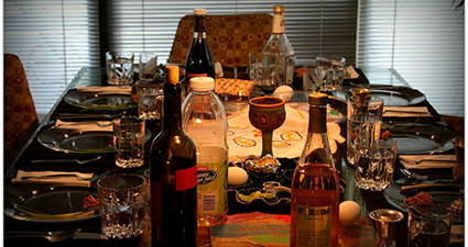 Passover Seder Table